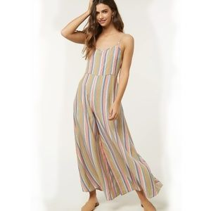 NWT O'NEILL STRIPED JUMPSUIT MULTICOLOR SZ M
